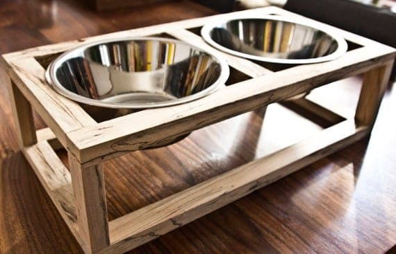 Minimalist Dog Feeder for Sale on Etsy