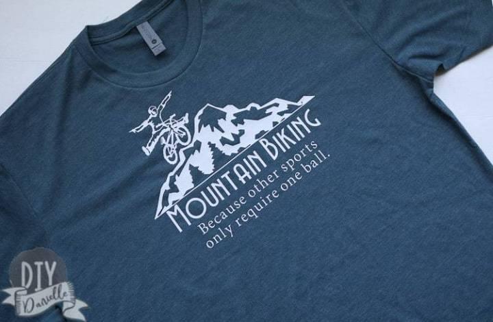 DIY Funny Mountain Bike Shirt