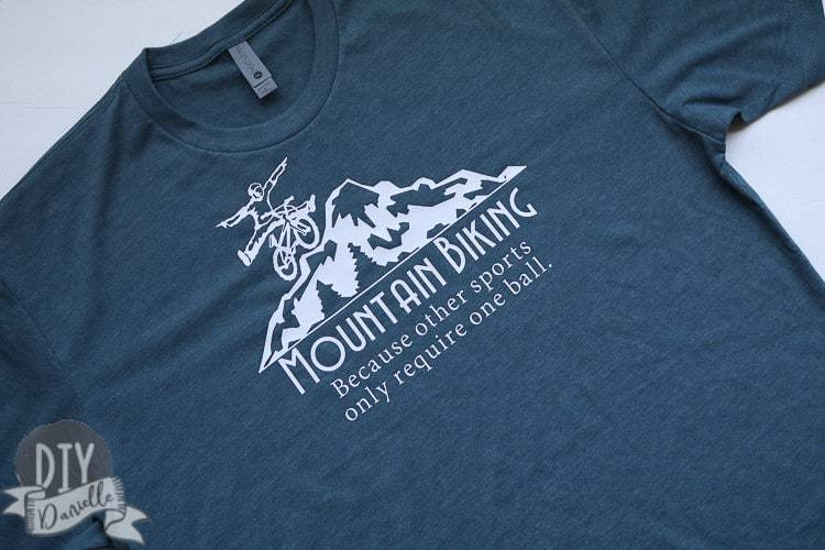 Funny and easy to make mountain biking shirt. These make great gifts!