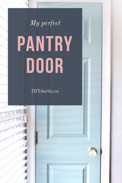 perfect pantry door