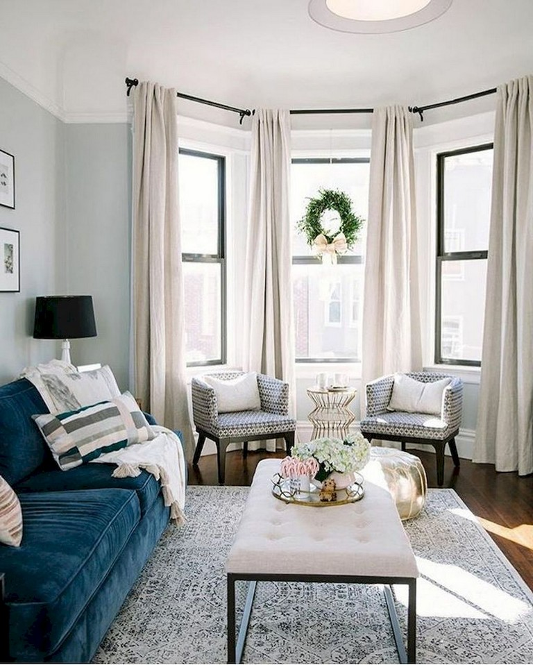 90+ Awesome Modern Farmhouse Curtains for Living Room ... on Farmhouse Living Room Curtain Ideas  id=84439