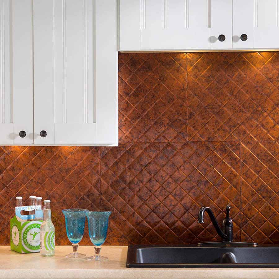 Fasade Backsplash - Quilted in Moonstone Copper