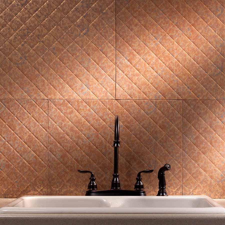 Fasade Backsplash - Quilted in Cracked Copper