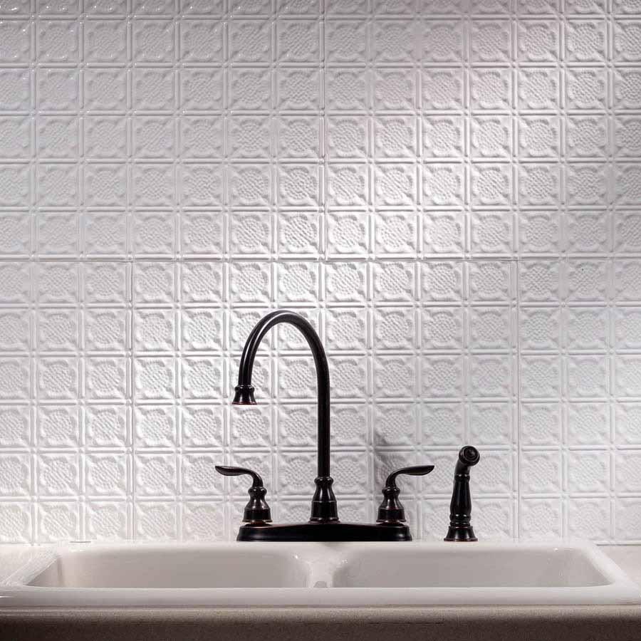 Fasade Backsplash - Traditional 6 in Gloss White