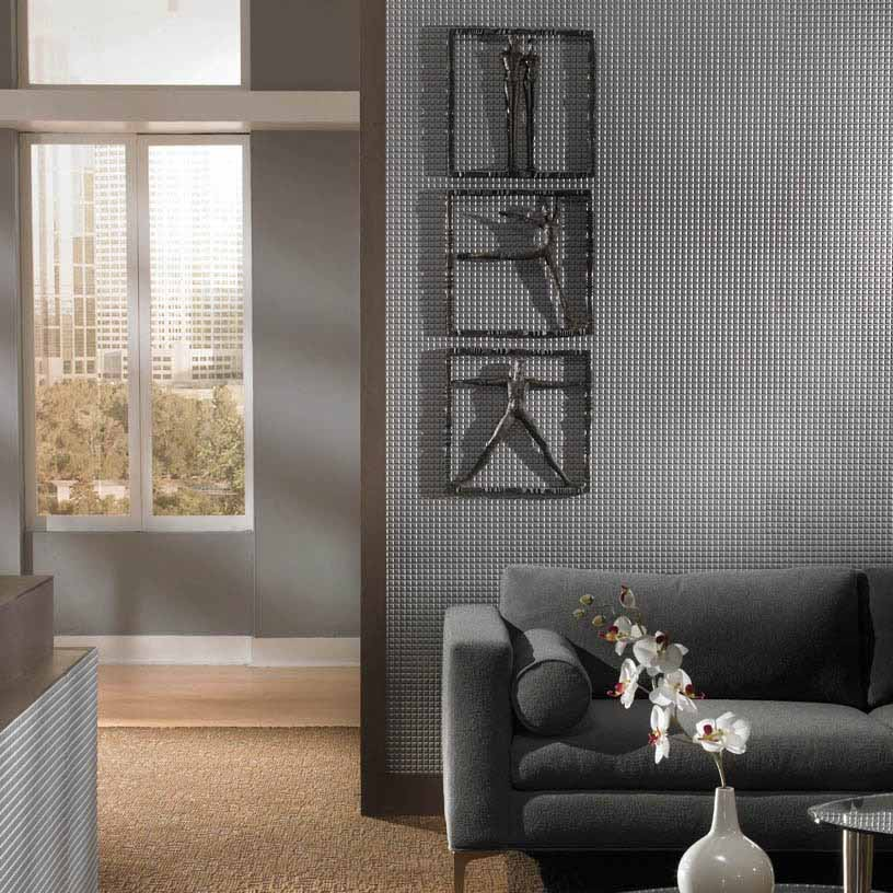 Fasade Wall Panel-Square in Argent Silver