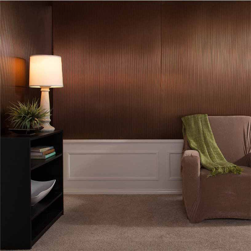 Fasade Wall Panel-Rib in Oil-Rubbed Bronze