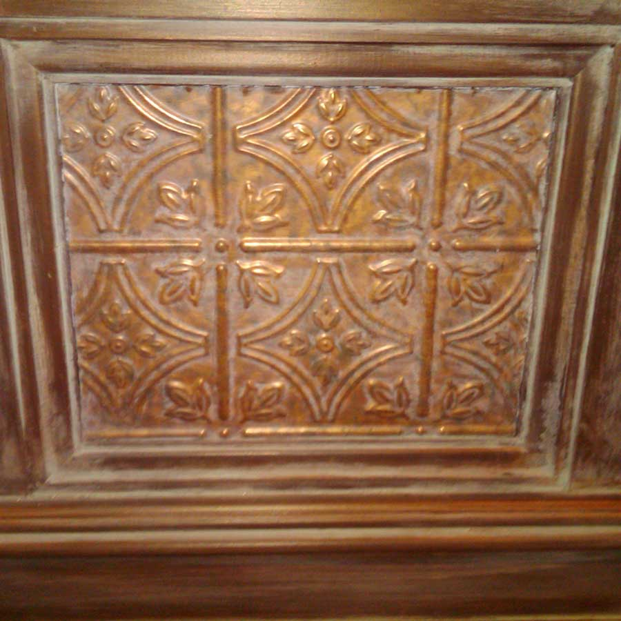 Rustic Wall Inset with Fasade Traditional 1 in Cracked Copper