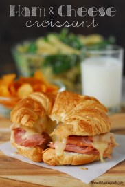 School lunch ideas: ham and cheese croissant.
