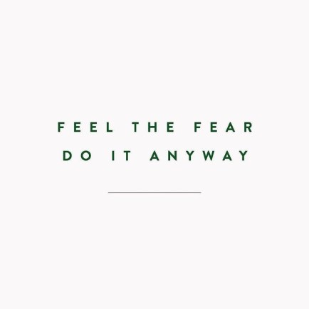 Motivational Quotes: Feel the fear. Do it anyway.