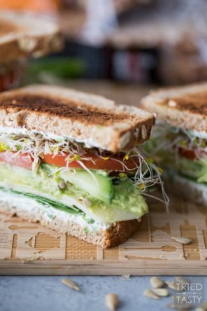 Quick, easy meal ideas. The ultimate veggie sandwich.