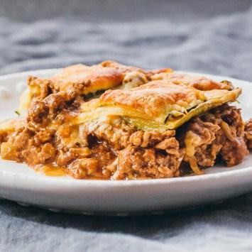 Quick low carb meals. Zucchini lasagna.