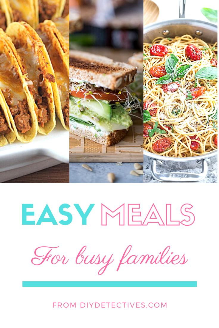 Make at home meals for families on the go.