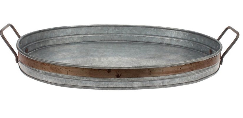 Metal serving tray