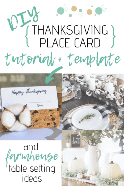 Thanksgiving Place Card Tutorial + Template + Decor Ideas
