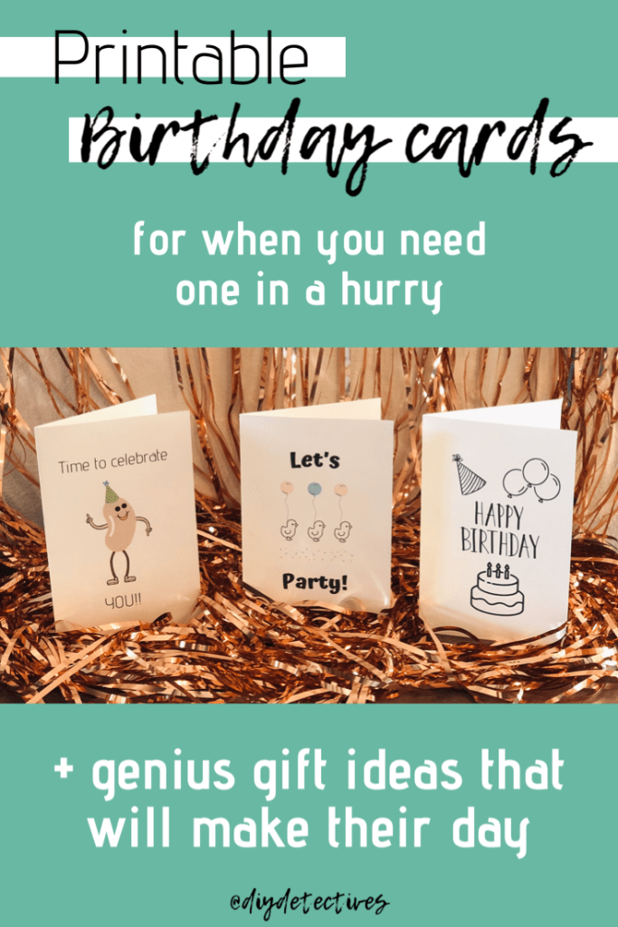 Printable Birthday Cards + Genius Gift Ideas