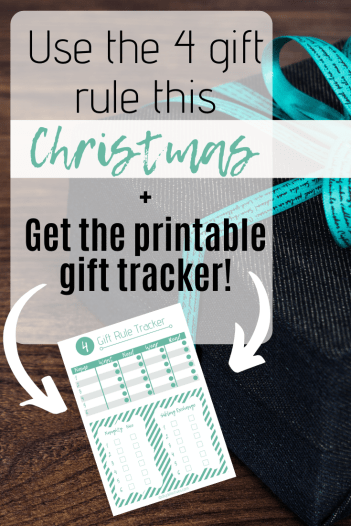 Use the 4 Gift Rule + Get the Printable Gift Tracker