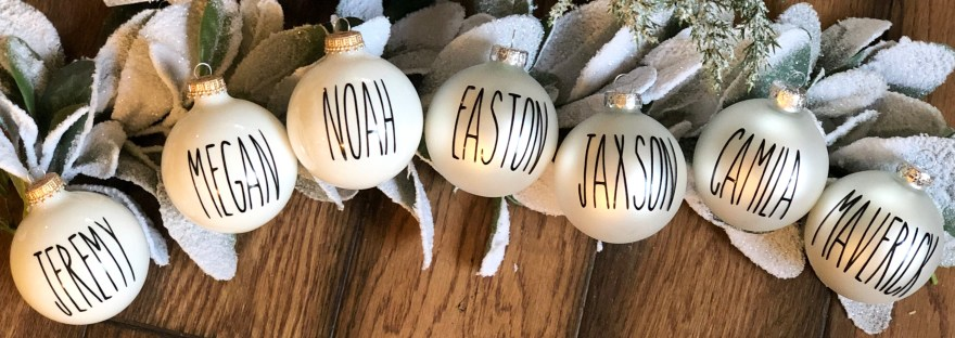 DIY Farmhouse Family Ornaments