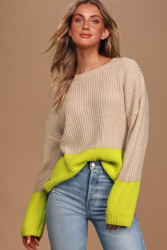 Cozy Sweater: Colorblock