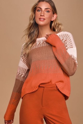 Cozy Sweaters for Fall : Ombre