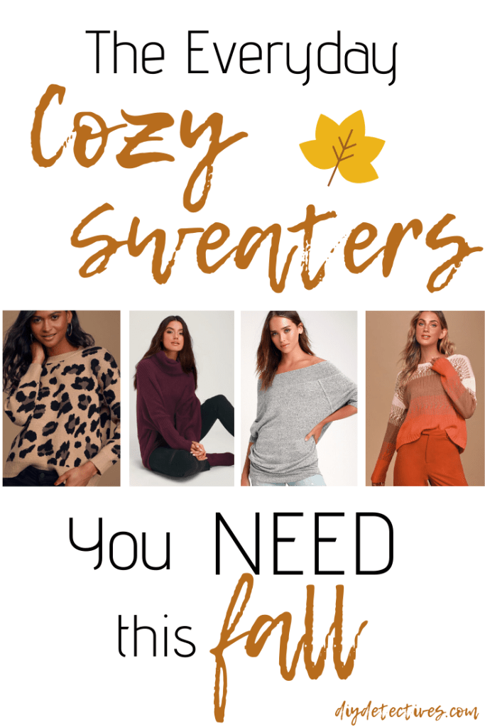 Cozy? Oversized? Sweaters? Yes Please!!