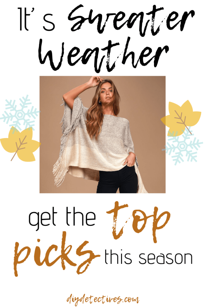 All the best cozy, over-sized, and stylish sweater for fall!