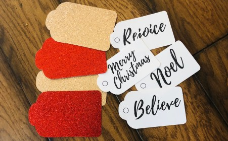 Gift Tags cut out