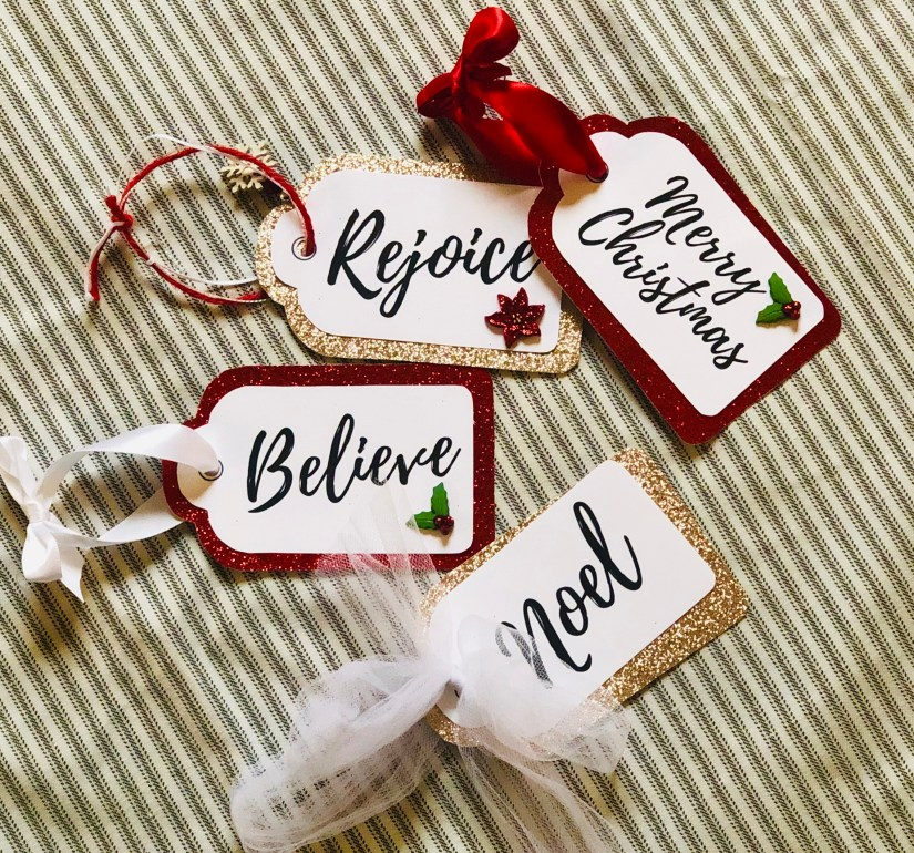 Adding ties to your gift tags