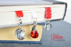 DIY Ribbon Charm Bookmark