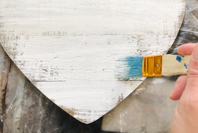 DIY craft: rustic paint.