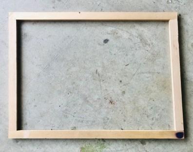 DIY Mantle Decor: Frame