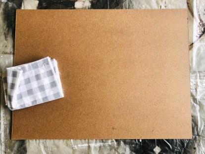 DIY Mantle Decor: Board for Frame