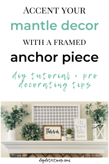 Accent Your Mantle Decor with a DIY Anchor Piece