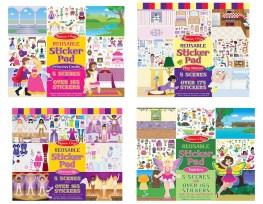 Crafts for girls: Sticker pad set