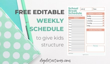 Structure for Kids with a Schedule