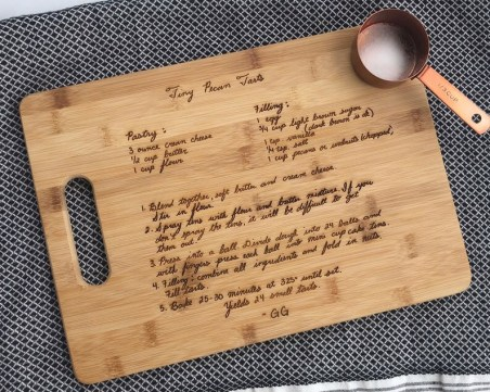 Cutting Board with Recipe