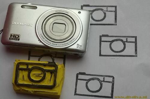 stempel fototoestel diydiva