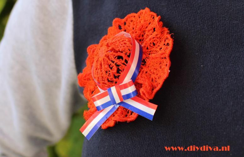 broche maken koningsdag oranje diydiva