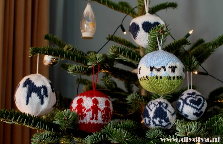 baable hat bauble diydiva kerstbal schaap breien