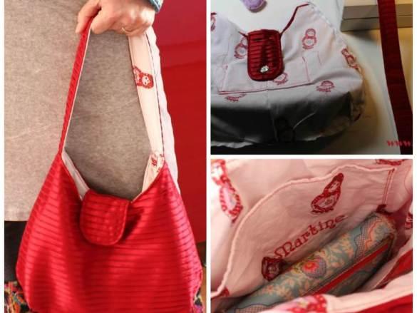 Als sew your stash mislukt…en je opeens een rode tas erbij hebt!