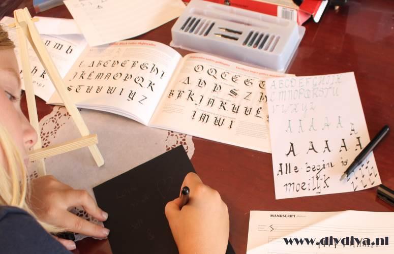 kalligrafie set diydiva