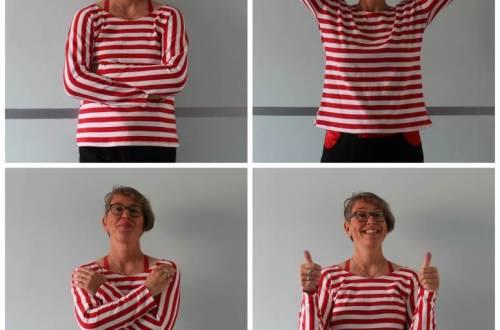 roodwit Pieke Stuvel uit een stuk shirt diydiva