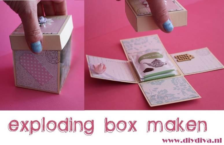 exploding box maken handleiding video voorbeeld kado moederdag diydiva