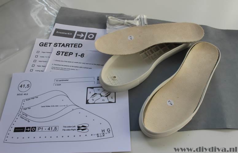 sneakerkit schoenen zelf maken diydiva