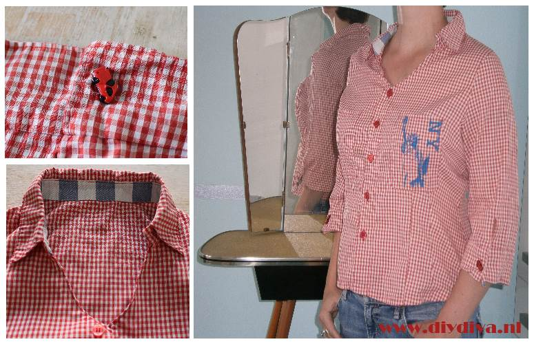gingham blouse NY diydiva