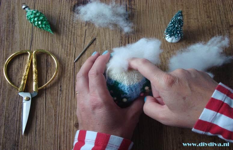 zelfgemaakte kerstbal breien diydiva