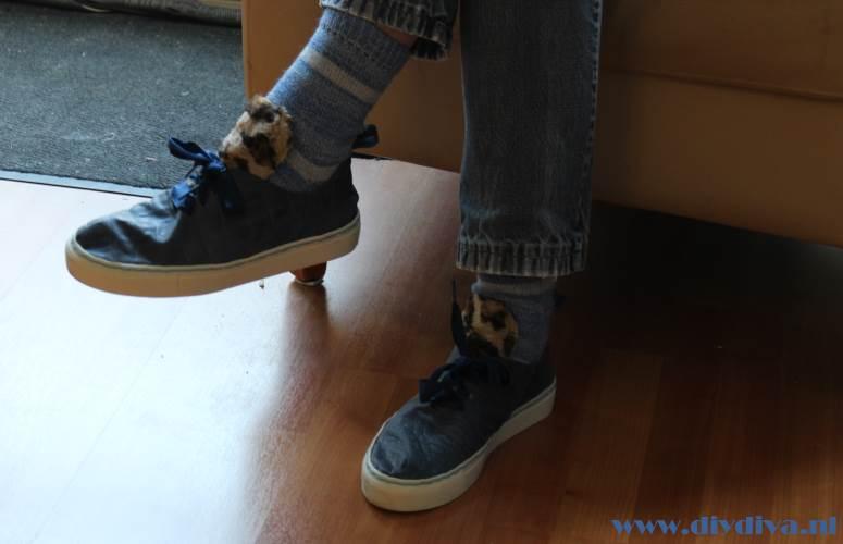 blauwe croco sneakerkit diydiva