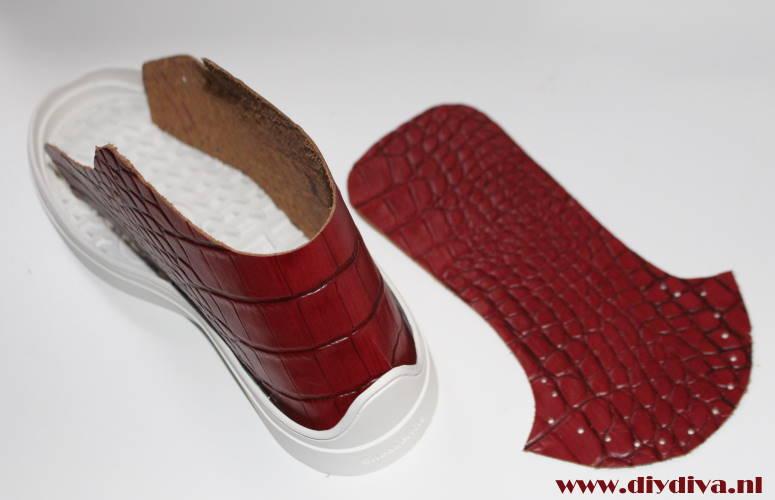rood croco leer schoenen diydiva