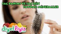 Saç için faydalı mineraller