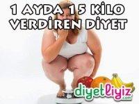 diyet listesi 15 kilo