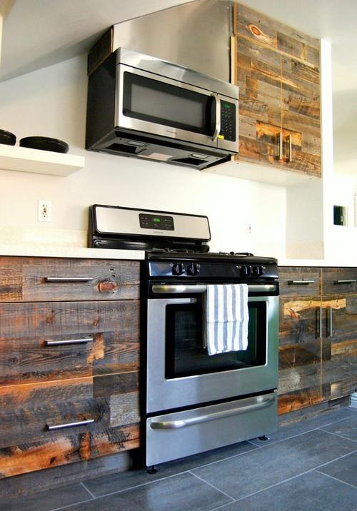 Amazing DIY StikWood Finished Kitchen Cabinets Headboard Amp Walls Do It Yourself Fun Ideas